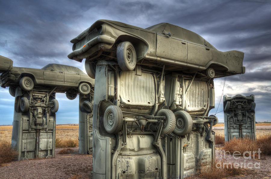 Carhenge Photograph - Carhenge Automobile Art 2 by Bob Christopher