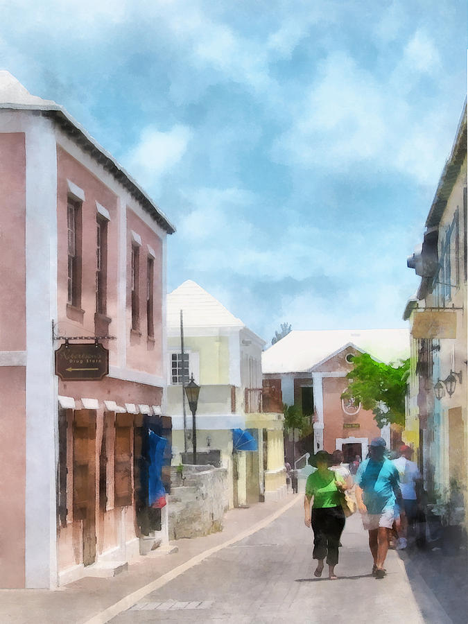 Caribbean - A Street In St. Georges Bermuda Photograph