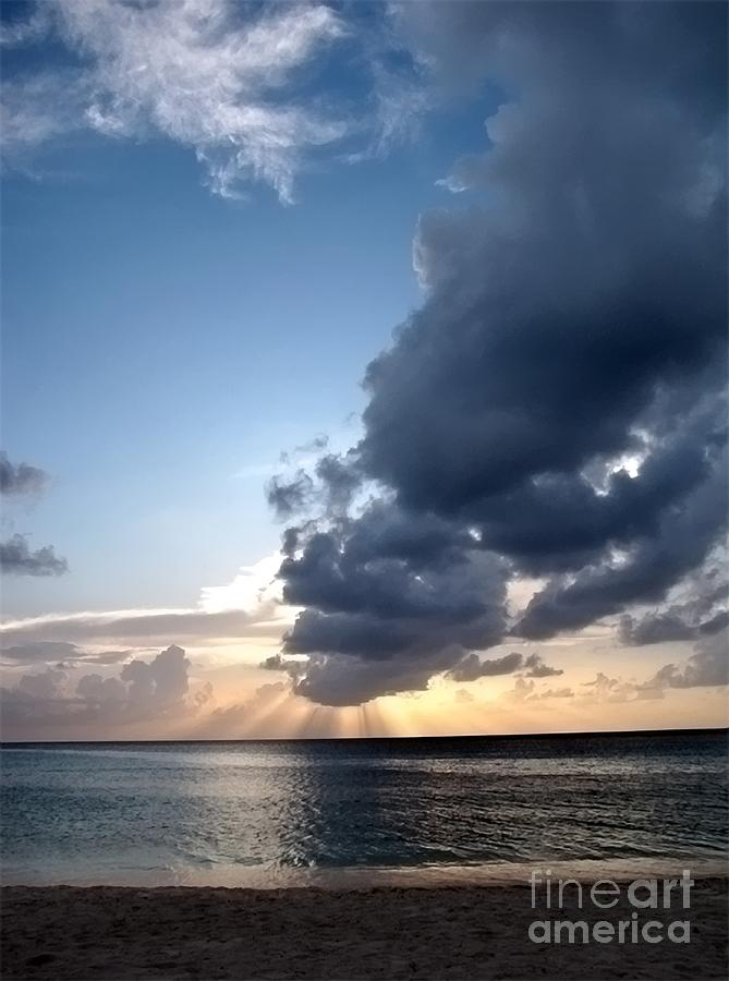 Caribbean Sunset Photograph  - Caribbean Sunset Fine Art Print