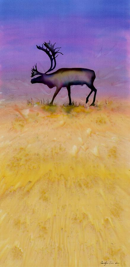 Caribou On The Tundra 2 Tapestry - Textile  - Caribou On The Tundra 2 Fine Art Print