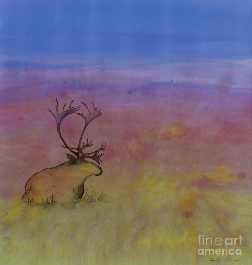 Caribou On The Tundra Tapestry - Textile  - Caribou On The Tundra Fine Art Print