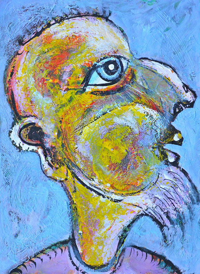 Acrylics Painting - Caricature Of A Wise Man by Ion vincent DAnu