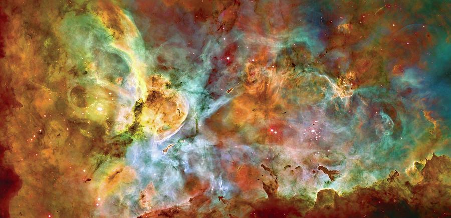 Universe Photograph - Carina Nebula - Interpretation 1 by The  Vault - Jennifer Rondinelli Reilly