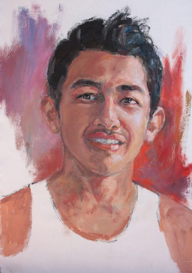 Portrait Painting - Carlos by Todd Taro