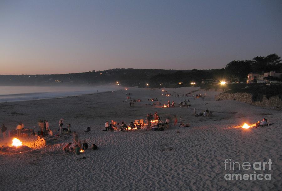Carmel Beach Bonfires Photograph