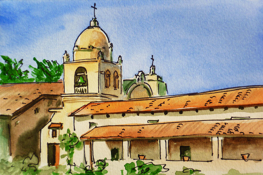 Carmel By The Sea - California Sketchbook Project Painting