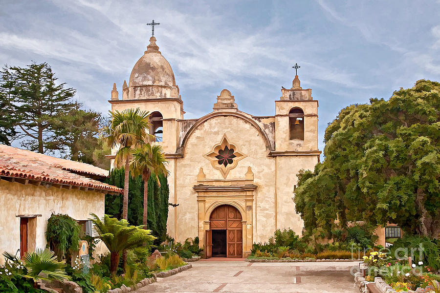 Carmel Mission San Carlos Borromeo Digital Art