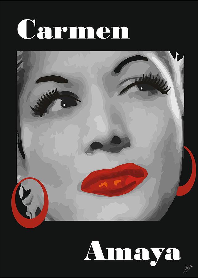 Carmen Amaya Drawing by Quim Abella