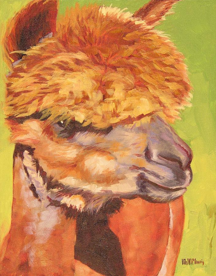 Alpaca Painting - Carmencita by Mary McInnis