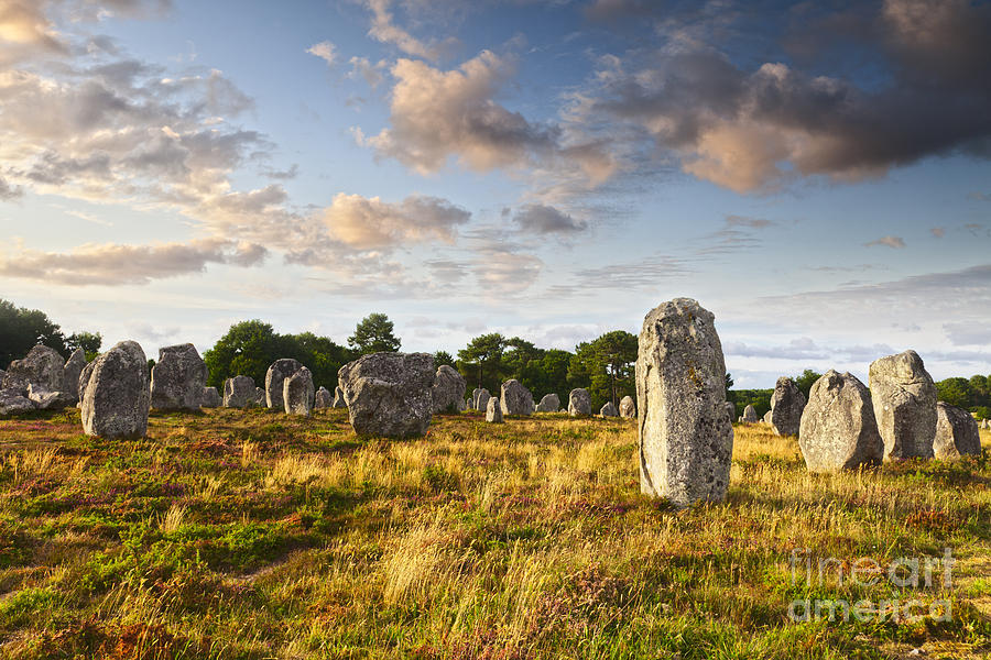 Carnac Alignments Brittany France Photograph