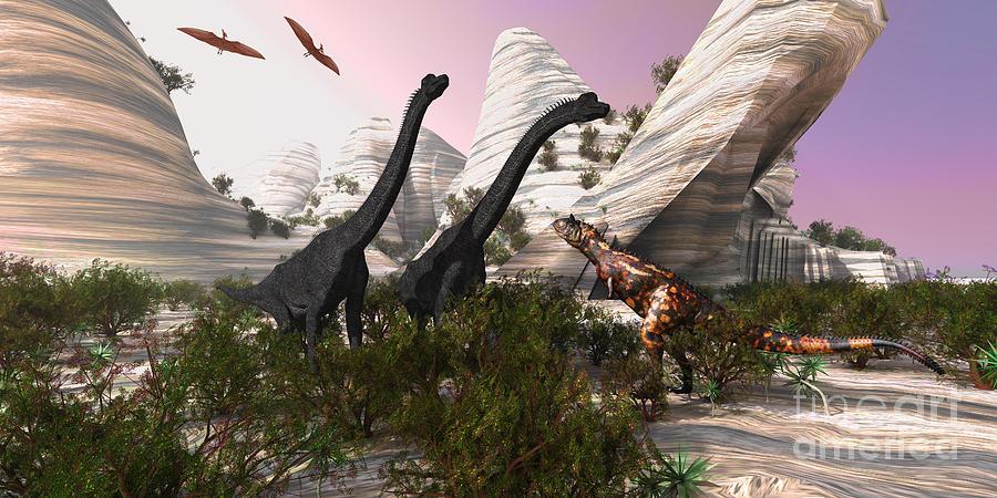 Carnotaurus Attack Painting