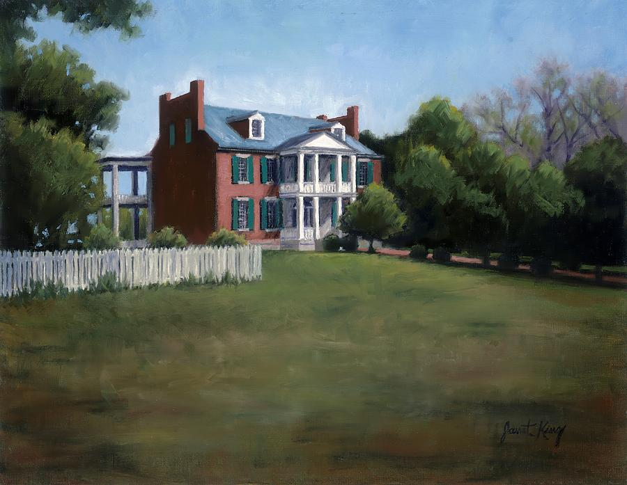 Carnton Plantation In Franklin Tennessee Painting  - Carnton Plantation In Franklin Tennessee Fine Art Print