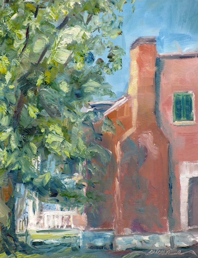 Carnton Painting - Carnton Plantation On A Spring Morning by Susan E Jones