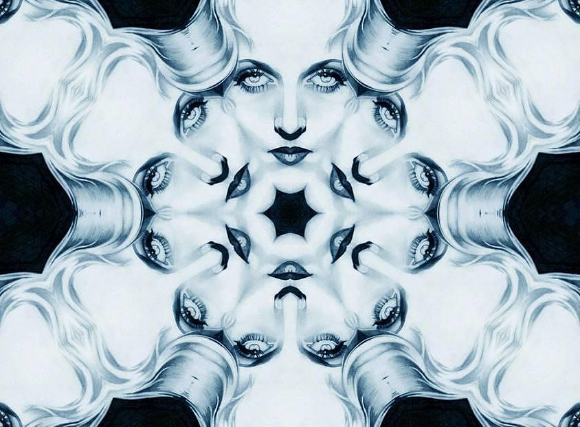 Carole Lombard Mosaic Digital Art