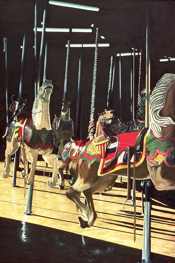 Merry Go Round Painting - Carousel by Anthony Butera