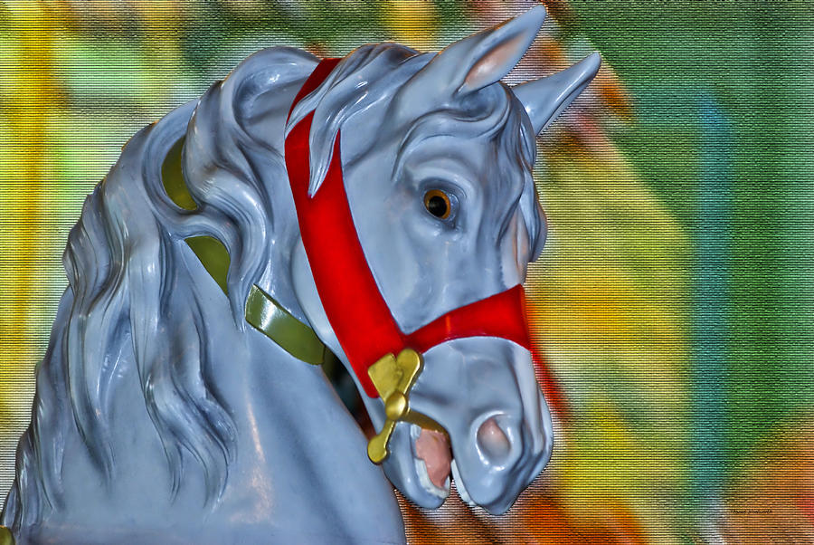 Carousel Horse Red Bridle Photograph  - Carousel Horse Red Bridle Fine Art Print