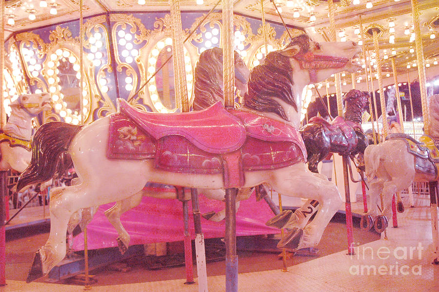 Carousel Merry Go Round Horses - Dreamy Baby Pink Carousel Horses ...