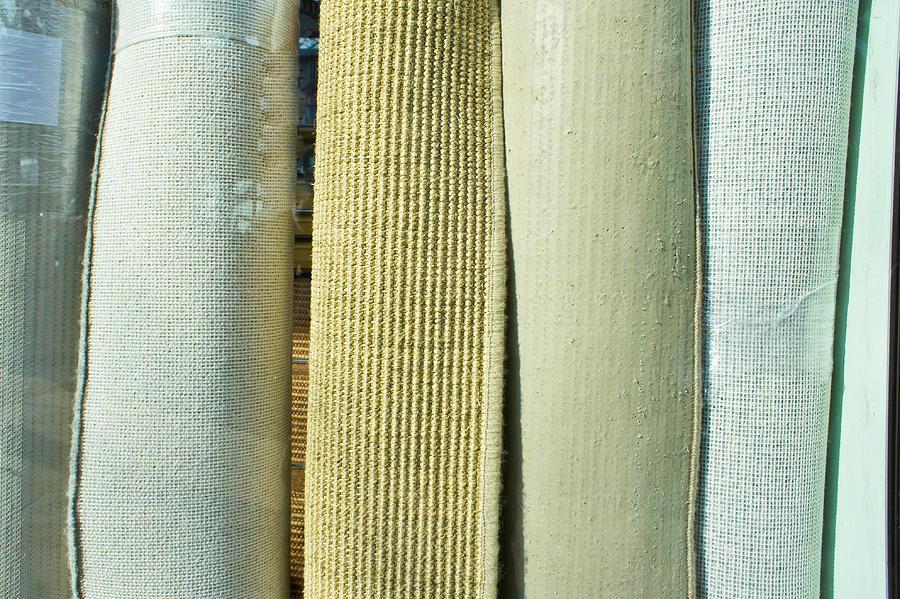 Background Photograph - Carpet Shop by Tom Gowanlock