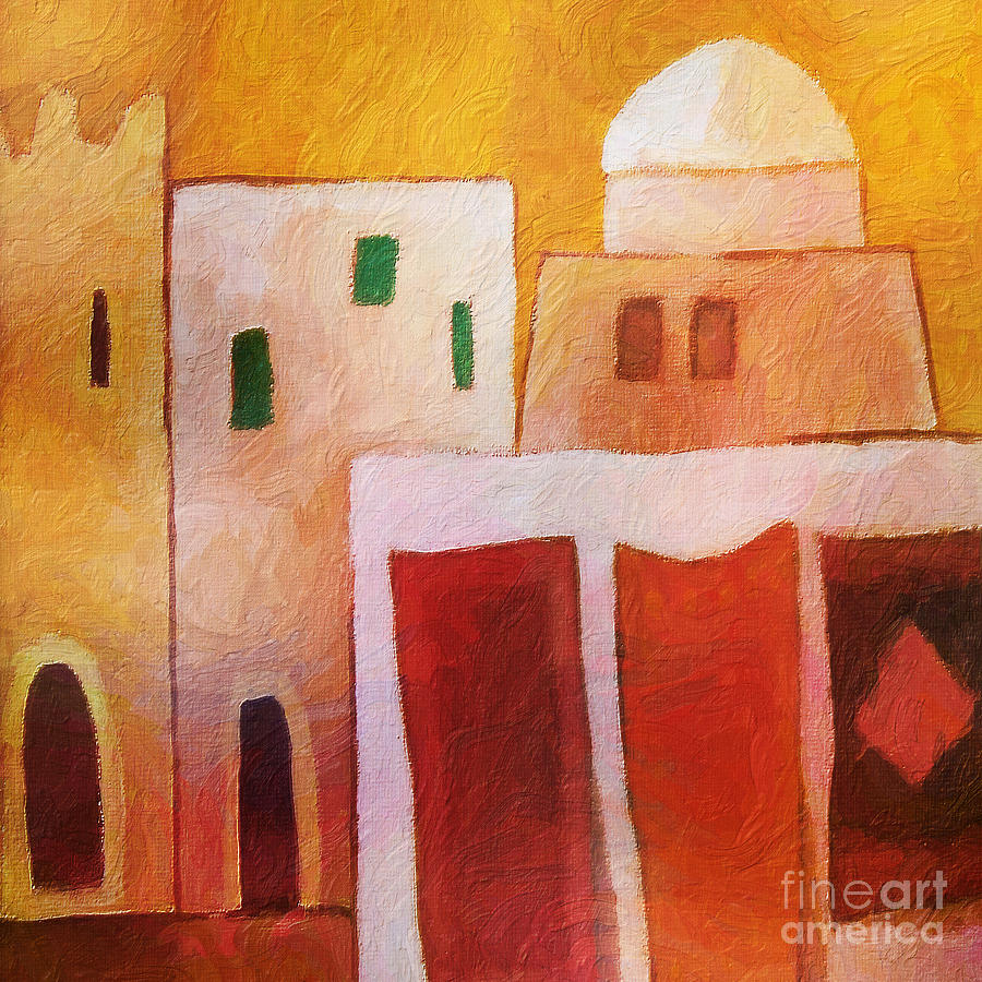 Carpet Town Painting  - Carpet Town Fine Art Print