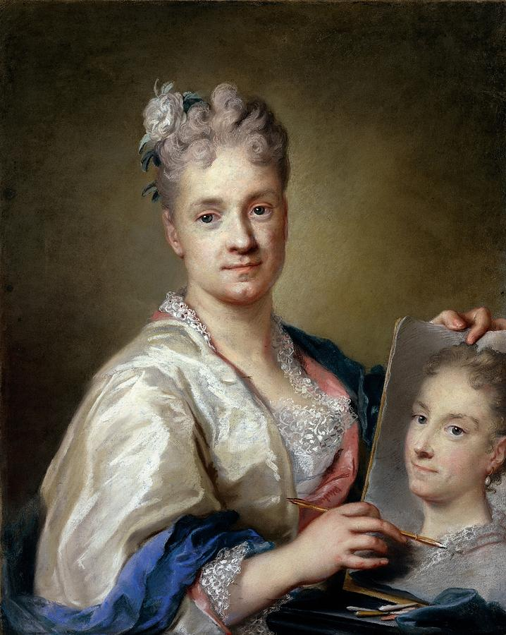 Carriera Rosalba, Self-portrait, 1715 Photograph