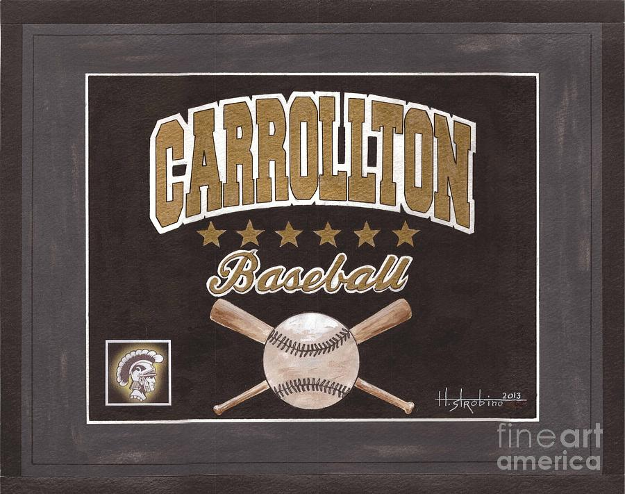 Carrollton Baseball Painting  - Carrollton Baseball Fine Art Print