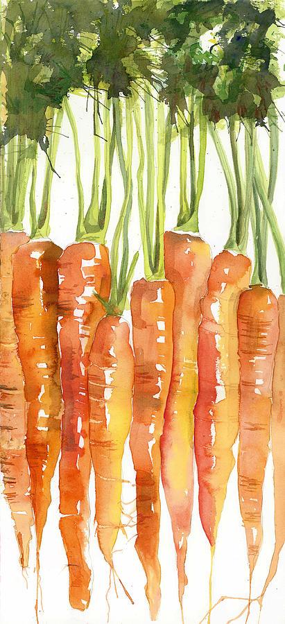 Carrot Bunch Art Blenda Studio Painting