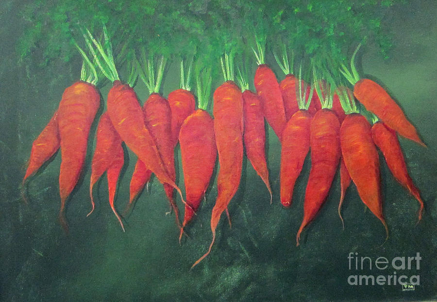 Carrots And More Carrots Painting