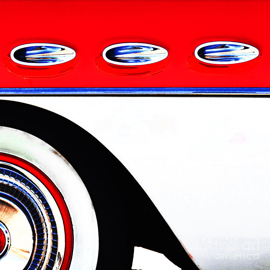 Cars - 50s American Steel Pop Art Mixed Media  - Cars - 50s American Steel Pop Art Fine Art Print