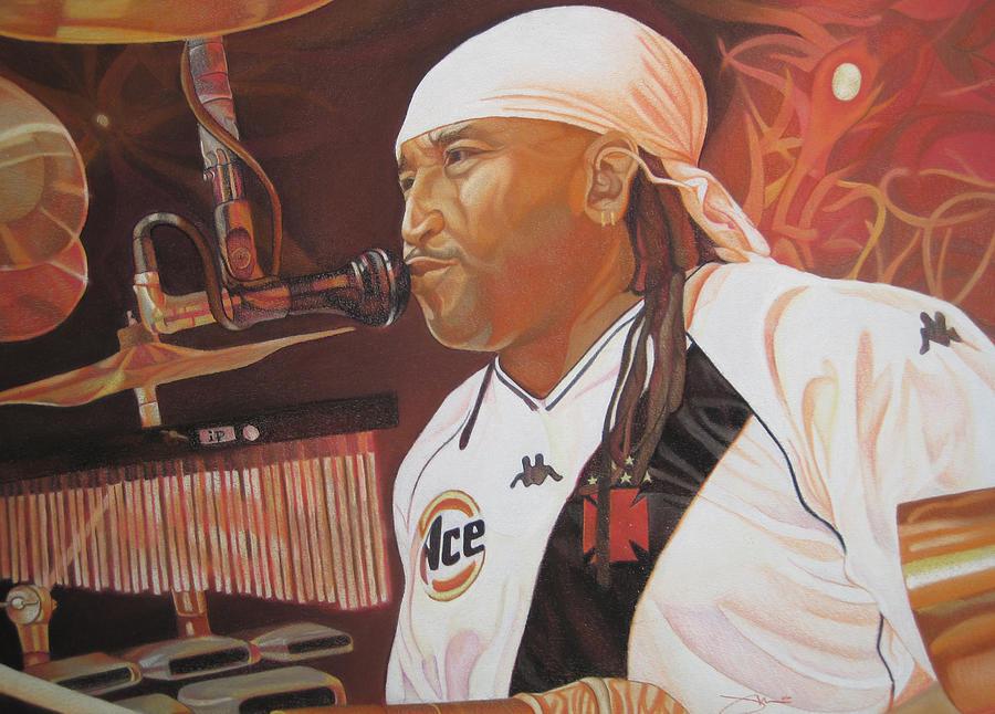 Carter Beauford At Red Rocks Drawing