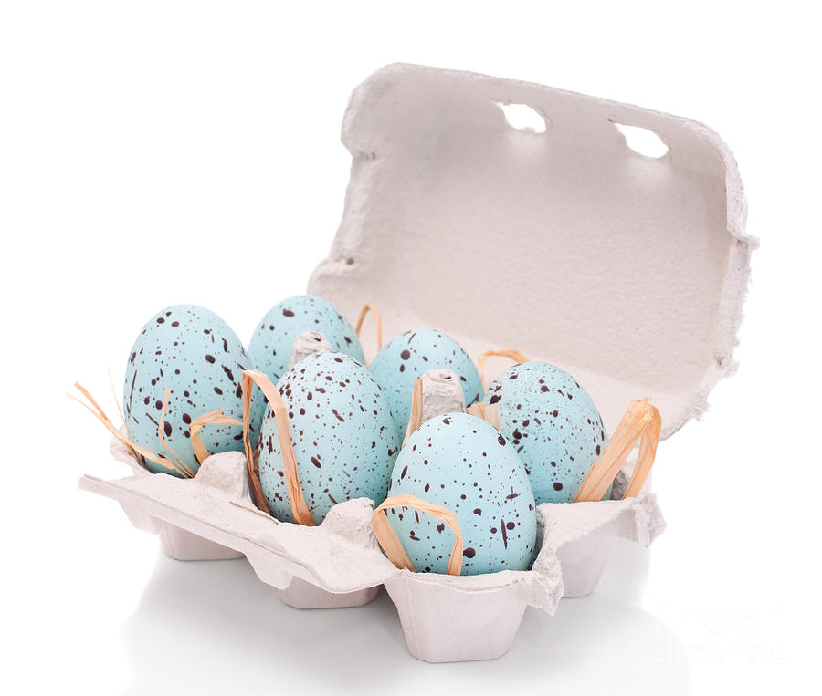 Carton Of Easter Eggs Photograph