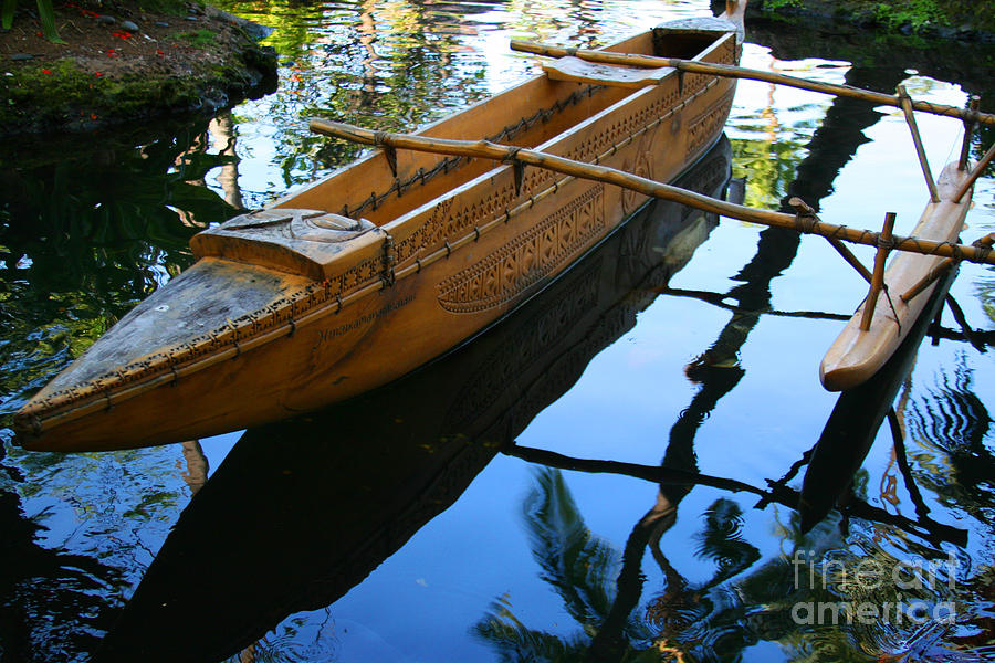 Carved Canoe Photograph