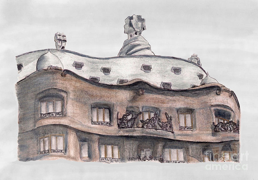 Casa Mila Barcelona Drawing