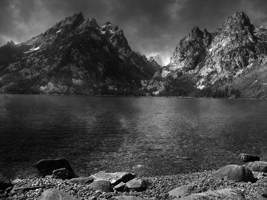 Cascade Canyon From Jenny Lake Shore Photograph  - Cascade Canyon From Jenny Lake Shore Fine Art Print