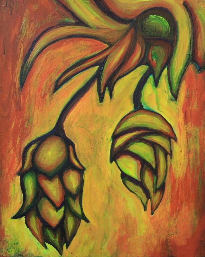 Cascade Hops Painting