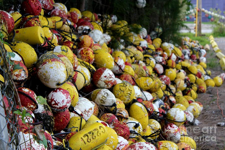 Cascade Of Buoys Photograph