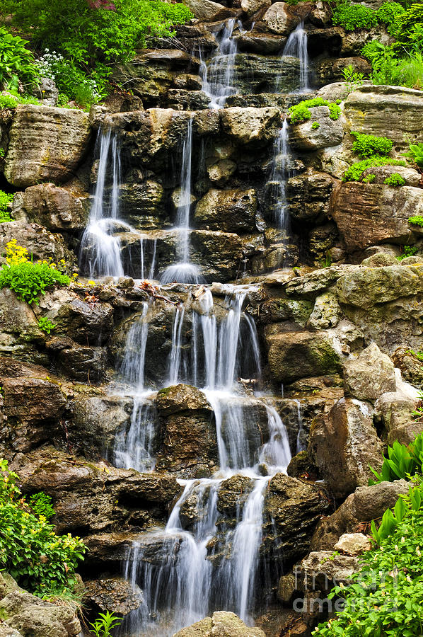 Cascading Waterfall Photograph  - Cascading Waterfall Fine Art Print