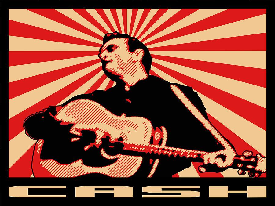 Johnny Cash Digital Art - Cash by Lance Vaughn