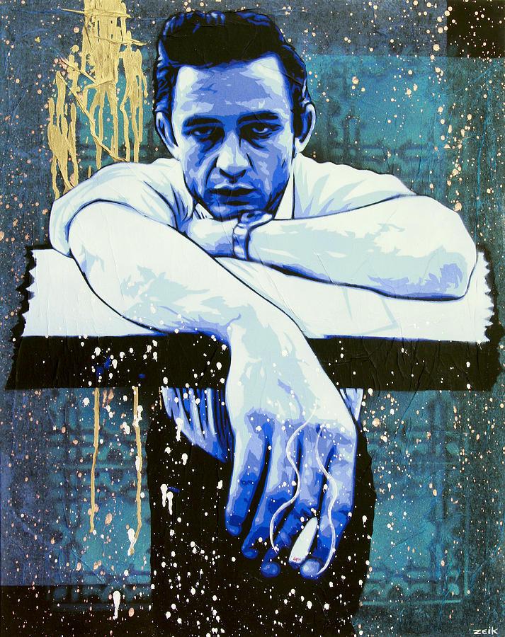 Cash - Preacher Man  Painting