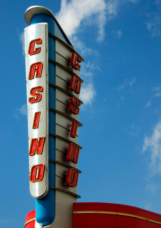 Casino Sign Photograph