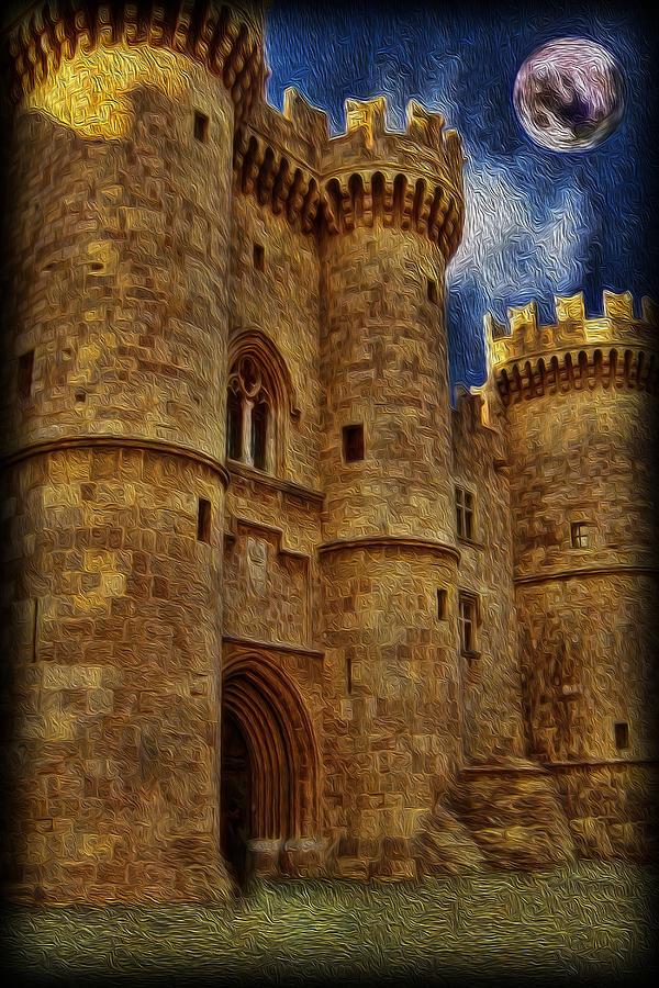 Castle Photograph - Castle By Moonlight by Lee Dos Santos