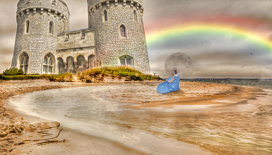 Castle Digital Art - Castle By The Sea by Betsy Knapp