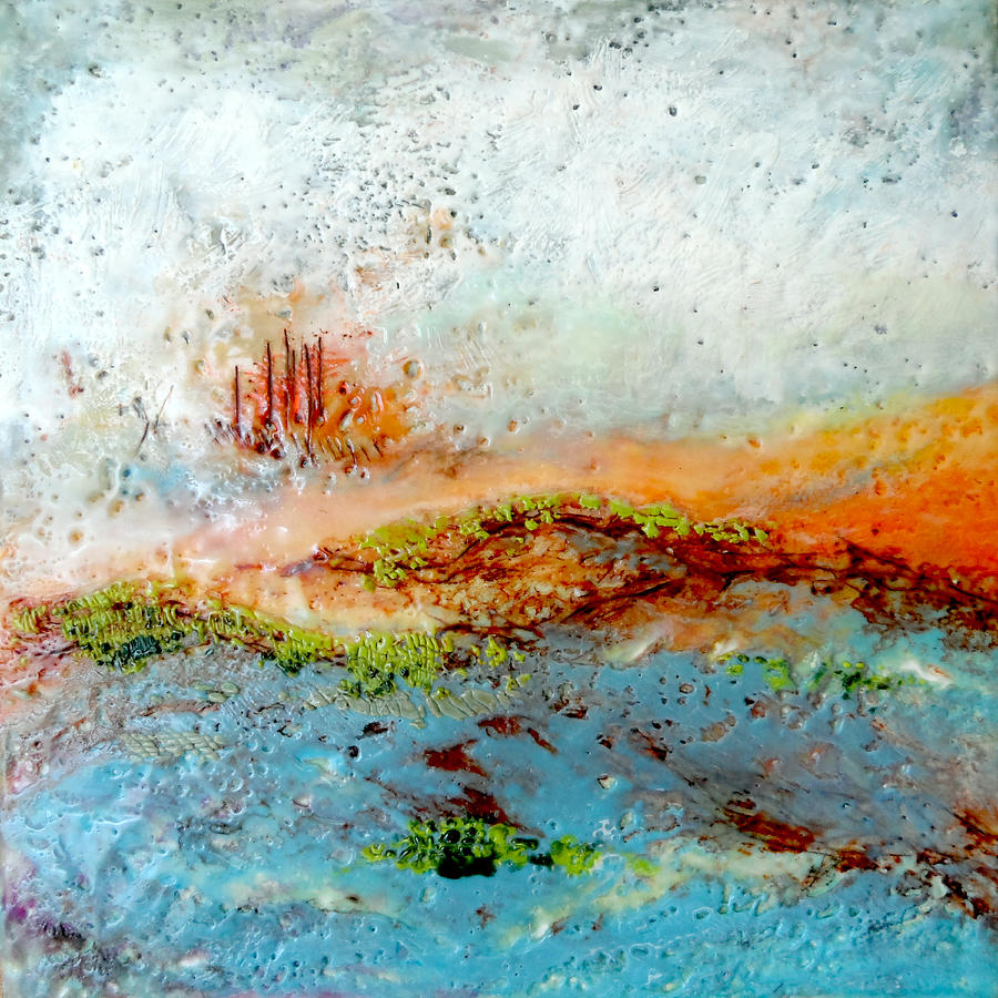 Abstract Landscape Painting - Castle Hills by Victoria Primicias