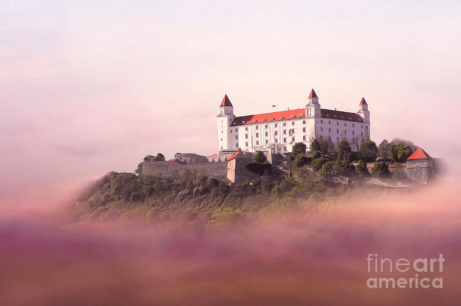 Castle In The Air II. - Bratislava Castle Painting  - Castle In The Air II. - Bratislava Castle Fine Art Print