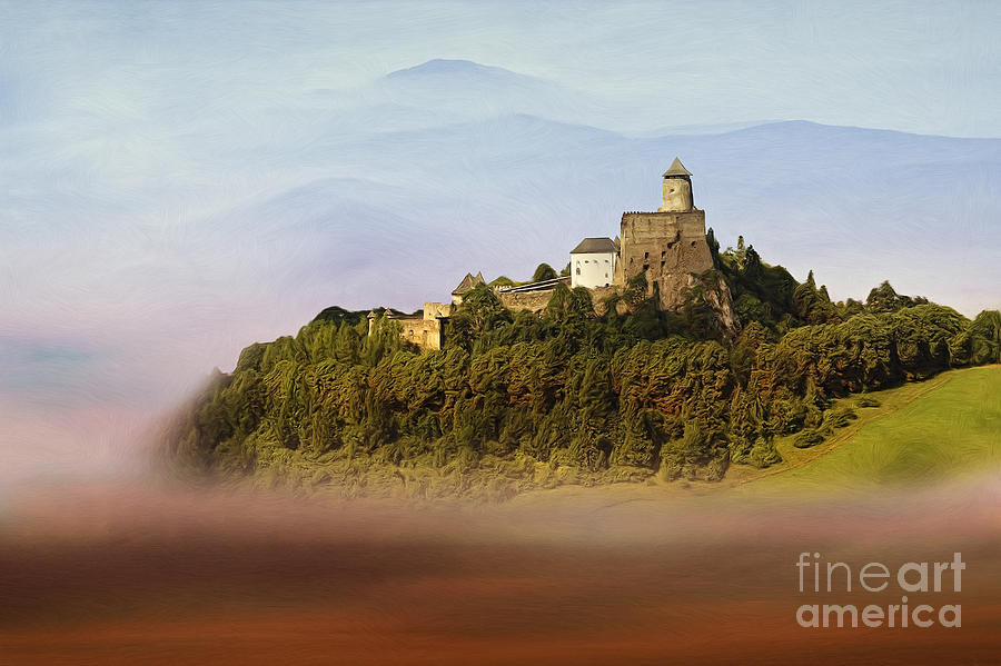 Castle In The Air Iv. - Lubovna Castle Painting