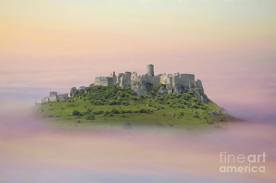 Castle In The Air. - Spis Castle Painting
