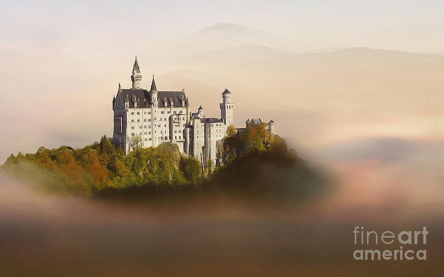 Castle In The Air Vi. - Neuschwanstein Castle Painting  - Castle In The Air Vi. - Neuschwanstein Castle Fine Art Print
