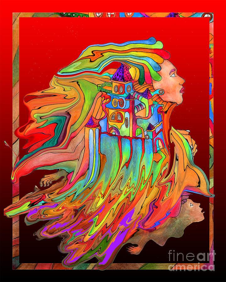Castle Lady Digital Art
