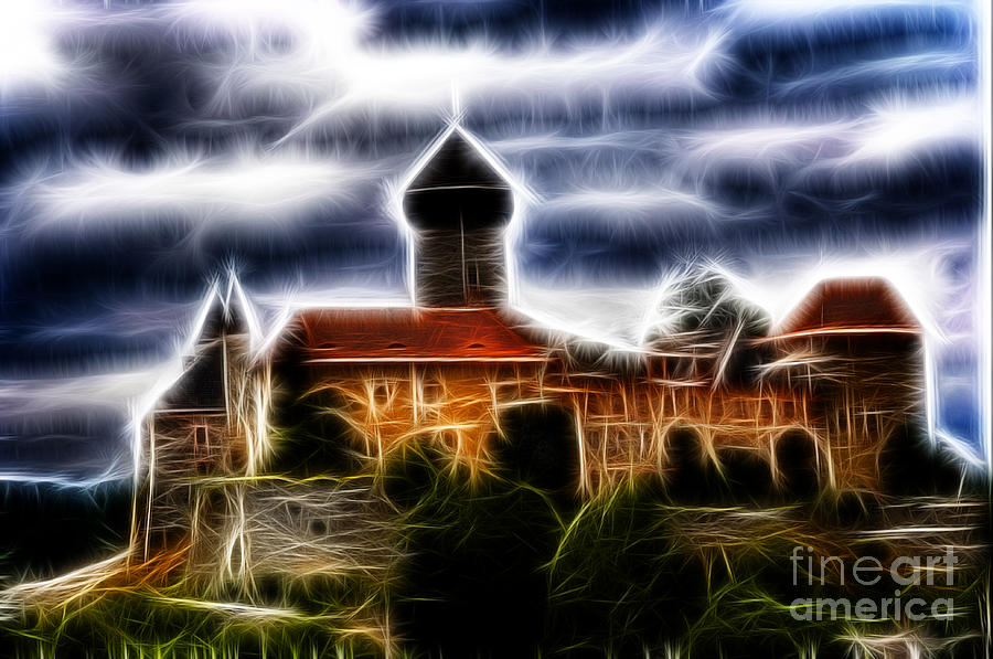 castle of the holy order - Sovinec Digital Art  - castle of the holy order - Sovinec Fine Art Print