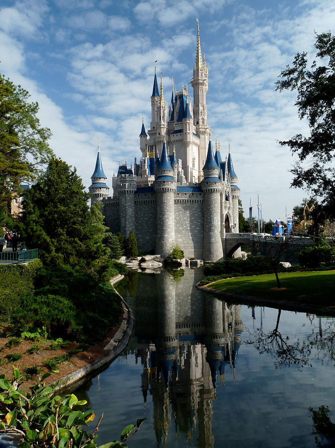 Cinderella Photograph - Castle Reflections by Nora Martinez