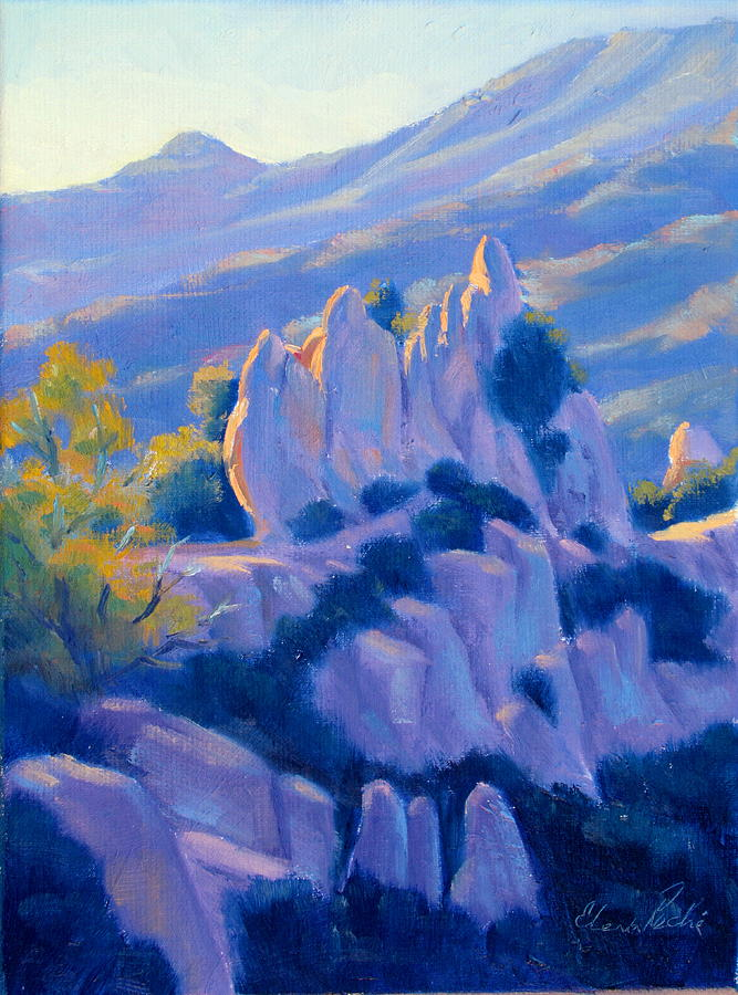 Castro Crest Guardians Plein Air Art Painting  - Castro Crest Guardians Plein Air Art Fine Art Print
